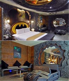 Batcave Bedroom & 25+ Best indoor Playhouses | Jungle theme Room and Room boys