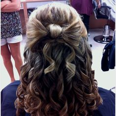 Hair bow updo.. possible formal