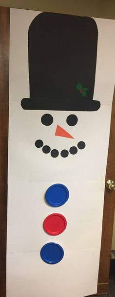 """Frosty the Snowman"" Christmas Door Decorating Contest, Snowman Door, Snowman Decorations, Frosty The Snowmen, Xmas, Doors, School, Weihnachten, Navidad"