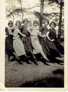 unknown (Nellie Rush?), Jessie Rush, Vera Kees, Nannie Kees?, C. D. Kees and Frankie Kees