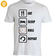 Lord Of The Rings Inspired Eat Sleep Rule Repeat Sauron Men's T-Shirt XX-Large (*Partner-Link)