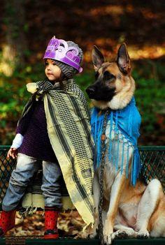 German Shepherd Dog & his kiddo!