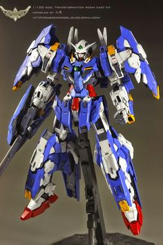GUNDAM GUY: 1/100 Avalanche Exia [Scel Tranformation Resin Cast Kit] - Conversion Build