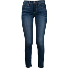 Paige 'Verdugo' skinny jeans ($265) ❤ liked on Polyvore featuring jeans, pants, bottoms, pantalones, blue, denim skinny jeans, skinny leg jeans, paige denim, skinny fit jeans and blue jeans