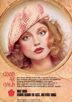What was the retro pastel eye makeup look all about? Making the eyes look big and soft by creating a natural look with pale eyeshadow shades. 1970s Makeup, Vintage Makeup Ads, Retro Makeup, Vintage Beauty, Vintage Ads, Eye Makeup, Vintage Models, Makeup App, Vintage Glamour