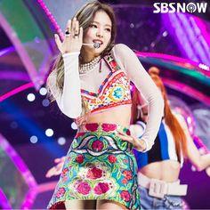 BlackPink 블랙핑크 : Jennie 제니  # : SBS Inkigayo Ep 915 SBS Now IG Update