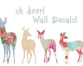 beautiful deer decals for decorating!