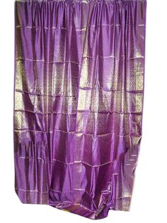 Violet Gold Sari Curtains 2 Drapes Panels Window Dressing $64.00