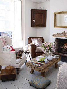 how charming is this little cottage living room...via brabourne farm