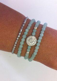 beachcomber triple wrap bracelet  aqua mint by beachcomberhome, $28.00