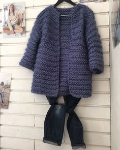 Discover thousands of images about Chunky Knit Open Front Vest - Clothing Crochet Jacket, Knit Jacket, Crochet Cardigan, Knit Crochet, Sweater Jacket, Knitting Patterns Free, Knit Patterns, Baby Knitting, Cardigan Bebe