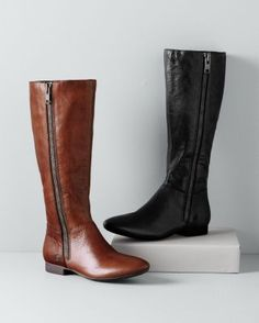 Born  Terri Exposed-Zip Boots.  Have these in brown, love them, need something similar in black.