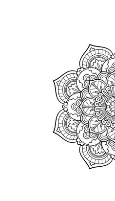 Mandala Phone Wallpaper Black and White