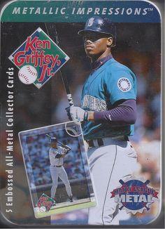 1996 Metallic Impressions Ken Griffey Jr. Metal Baseball Cards Seattle Mariners #SeattleMariners