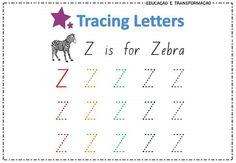 Tracing Letters, Words, English Alphabet, Horse