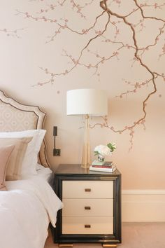 Trendy Cherry Bedroom Furniture Decor Blossom Trees The Effective Pictures We Offer You About bedroom furniture organization A quality picture can tell you many things. Bedroom Murals, Home Decor Bedroom, Modern Bedroom, Bedroom Wall, Tree Bedroom, Girls Bedroom, Bedrooms, Cherry Blossom Bedroom, Cherry Blossom Decor