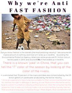 Blaine Bowen is Anti Fast Fashion. Environmental Protection Agency, Fast Fashion, Did You Know, American