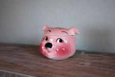 old DeForest of California pig candy jar Pig Candy, Vintage Candy, Little Pigs, Candy Jars, Piggy Bank, California, Future, School, House