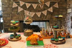 Woodland Creature Party - Table set for Will's party!