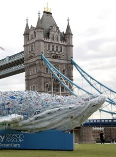 A Huge Plastic Whale Has Been Unveiled In London For This Important Reason #Plasticfree #zerowaste #eco #sustainable #sustainableliving #ethicalliving #greenliving #noplastic #recycling