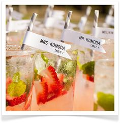 Take your mixology to the next level with refreshing summer cocktails. Have your seasonal drink of choice waiting for guests post-ceremony to get the party started.