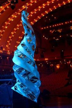 Aerosel Spinning Horn Sculptures at Roosevelt Auditorium in Chicago - Specimen Products