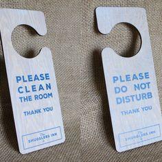 Do Not Disturb Wooden Door Hanger Signs - ideal for pubs, hotels & B&B's