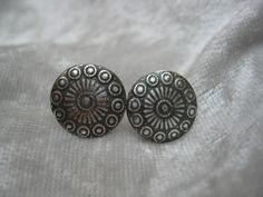 """Silber Ohrringe - Ohrstecker """"Button"""" aus 999 Silber - ein Designerstück von…"""