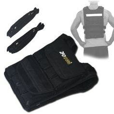 This 40-Pounds weighted vest is designed to contour and stay tight to your body even under the most intense workouts.  It is a great tool for training if you run with your children because it helps equalize the effort needed for a given distance.