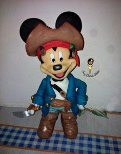 Mickey Pirata em biscuit