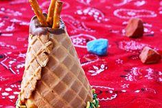 barquillos helado Cabañas indias de helado, ¡fiesta infantil!