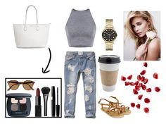 """#6"" by toyystory ❤ liked on Polyvore featuring moda, Abercrombie & Fitch, Accessorize, Ray-Ban, Gucci, NARS Cosmetics, Bare Escentuals, Marc by Marc Jacobs e OUTRAGE"