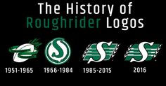 The History of the Roughrider Logo Canadian Football League, Best Football Team, Go Rider, Saskatchewan Roughriders, True North, Logo Google, Champs, Green Colors, Bench