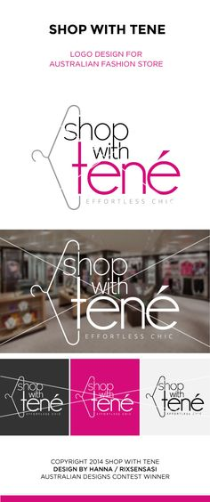 Shop With Tene - Australian Fashion Store - Logo Design Winner