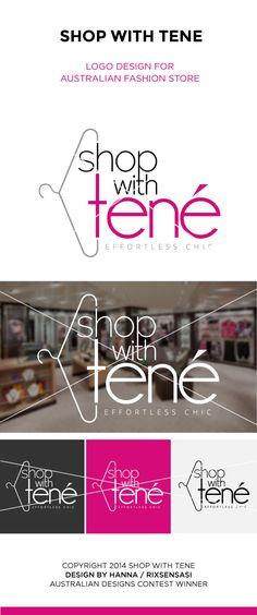 Shop With Tene - Australian Fashion Store - Logo Design Winner