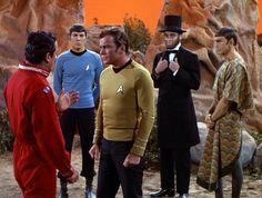 As James T. Kirk in Star Trek: The Savage Curtain