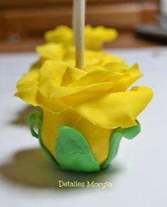 DETALLES MORYTA: Cakes Pops, inversos.. Rosas, Flower powers !