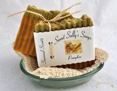 Handmade Organic Pumpkin Soap Hot Process Soap by SweetSallysSoaps,