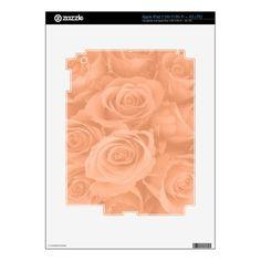 Persian orange roses iPad 3 decals