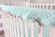 1 Crib Rail Cover In 28 Colors Solid Minky Teething Guard