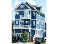 plan 30034rt multi levels - 3 Story Beach House Plans Narrow
