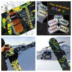 Snowboard bottle holder with integrated stomp pad!  Stay hydrated while shredding the mountain this winter!  www.ChompPad.com