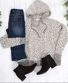 Keep it simple with a cozy sweater and a good pair of jeans.