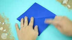 Blue coloured card works best for an origami seahorse. Origami Day, Cards, Blue, Color, Map, Colour, Colors