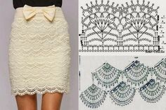 confidenziale: Vestidos e Saias em Crochê beautiful scallop design for this crochet skirt