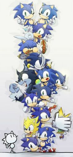 types of Sonic the hedgehogs