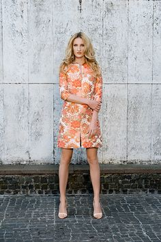 MFD short cocktail brocade dress.