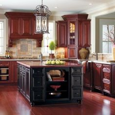 1000 ideas about cherry wood cabinets on pinterest for Floors to match cherry cabinets