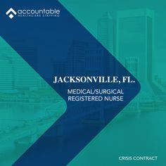 Spend your next travel assignment in #Jacksonville, #Florida! We are currently looking for experienced Med/Surg #nurses to become a part of our team. 12hr Days & Nights available! Competitive #pay, a local team team to support you & bonus programs available! Let our dedicated team set you up with an online application today! Visit AHCStaff.com to apply. To speak to a recruiter, call 469.453.2020. Find A Career, Travel Nursing, Jacksonville Florida, Nurses, Health Care, How To Become, How To Apply, Medical, Positivity