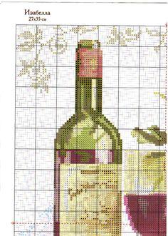 Red wine cross stitch